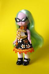 Encore Two! (Helena / Funny Bunny) Tags: fashion doll 1972 embla olds funnybunny emeraldwitch solidbackground fbfashion