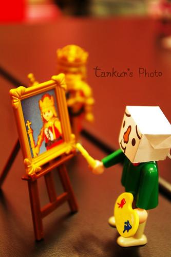 豆腐摩比宮廷畫家