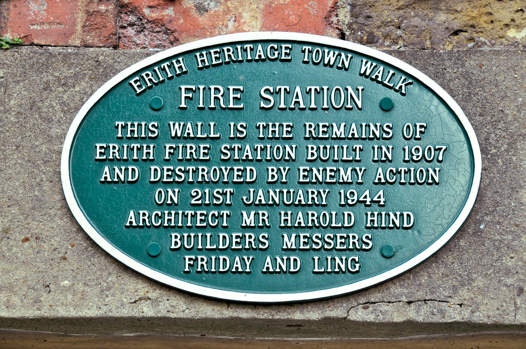 Fire station plaque