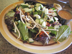 Salad with Peanut Dressing