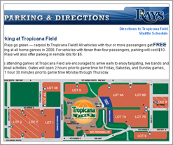 Quicken Loans DIFF blog says the Tampa Bay Rays do parking right!! by whatsthediffblog, on Flickr