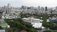 The Tokyo skyline