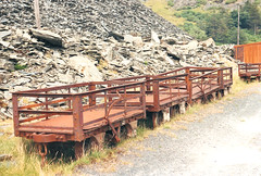 Wagons at Maenofferen Quarry (R~P~M) Tags: uk greatbritain train wagon unitedkingdom railway disused slate blaenauffestiniog