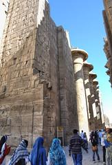 Karnak_7544 (FitWit (aka PlumpChump)) Tags: africa stone temple ancient nikon ruins d2x egypt egyptian karnak carvings hieroglyphics karnaktemple