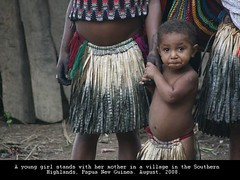 Child with Mother (owilybug) Tags: travel people children png papuanewguinea melanesian