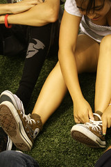 Trying it on for size (acasian*) Tags: hawaii kamehameha converse schools 2008 spiritweek