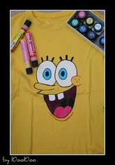 color yellow paint bob tshirt fabric spongebob spongbob spong paintfabric