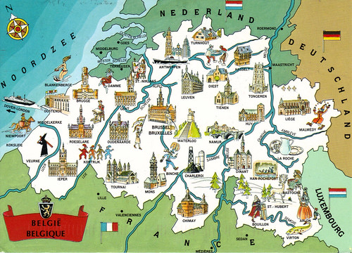 Belgium online maps geographical political road railway