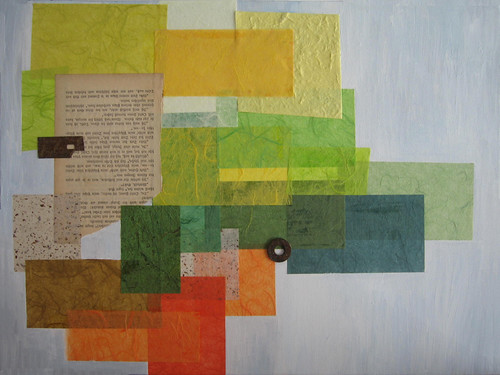 Collage Landscape w/ Mixed Media