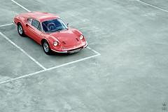 Dinosaur (romanraetzke) Tags: auto red urban rot car digital concrete 1974 airport nikon colours dino parking hamburg ferrari oldtimer gt farbe lufthansa beton farben parkhaus d300 246 sportwagen klassiker 246gt ferraridino nikond300