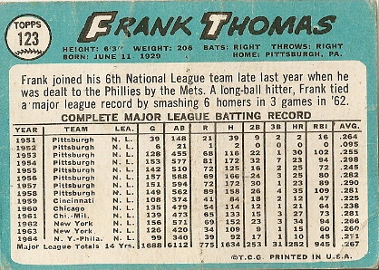 Frank Thomas (back) by you.