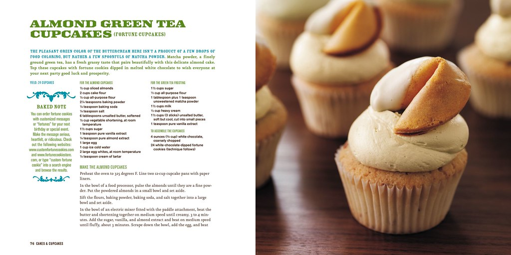 Recipe for Almond Green Tea Cupcakes from Baked