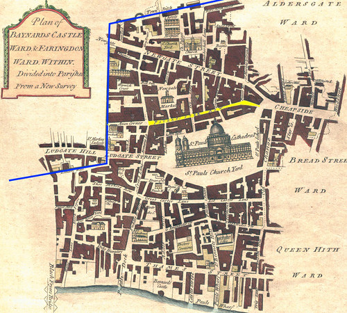 Faringdon Within and Bayard's Wards in the City of London