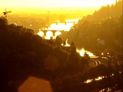 In a World Made of Layers (kugel) Tags: bridge ireland sunset germany landscape warm silouette fujifilm heidelberg hdr kugel krane utata:project=ip62 utata:project=contrejour
