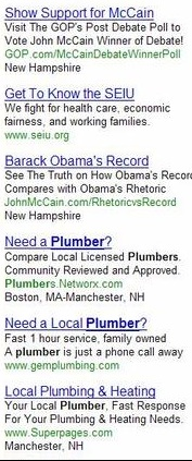Joe The Plumber Search Ads