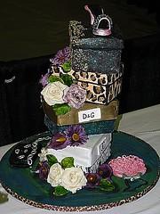 Fashion, Shoe, Purse Cake (Kim and Ashlee's Cakes & Cookies) Tags: fashion cake shoe designer chocolate stacked sculpted wwwkimandashleecom