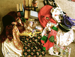 treasures (nicoleramona) Tags: santa christmas old motion art floral stockings fashion vintage toys happy nicole back store aperture mess doll university treasure florida secret sony feathers gainesville books fanny apron pack purse thrift heads indie merry alpha cheap clutter digest consignment readers collazo