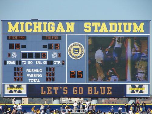 Toledo 13, Michigan 10 by wpierce76.