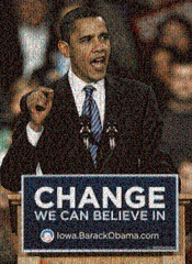 Obama Change Podium Mosaic