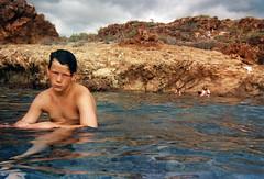 Tim's Cove (NullSession) Tags: ocean boy shirtless summer beach swim mexico tim roadtrip teen 1992