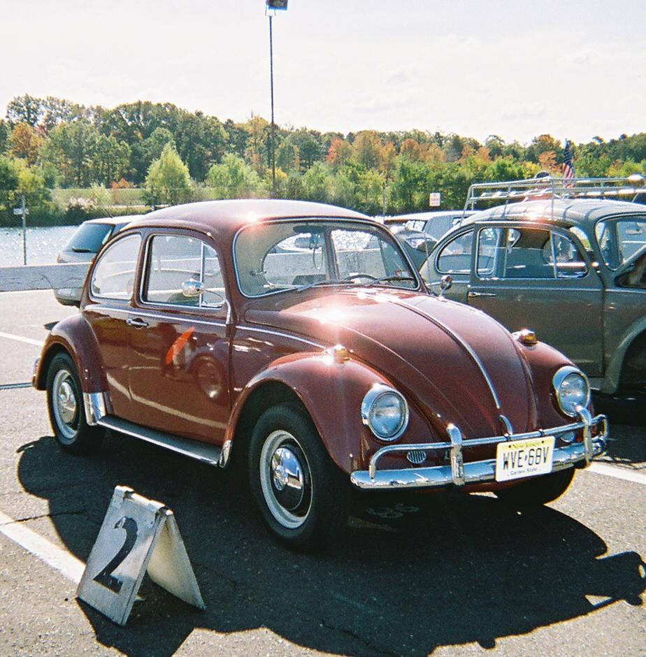 Maroon 1967 Volkswagen Beetle