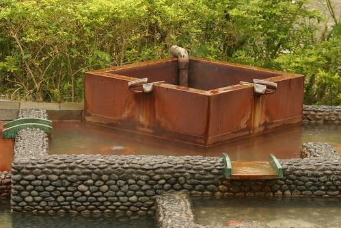你拍攝的 湯圍溝公園:泡腳池一角。