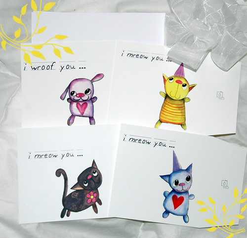 4 notecards of the little littles.