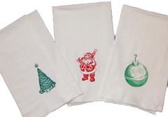 Christmas Embroidered Flour Sack Towels (Closet on Queen Creek) Tags: christmas towels sack flour