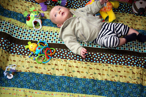 Ben and his playmat
