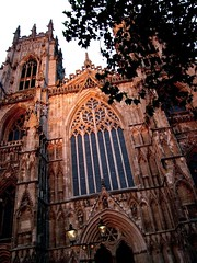 Evening at York (tina negus) Tags: york urban architecture lights cathedral medieval minster