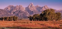 Teton Grandeur (Jeff Clow) Tags: morning rural landscape wyoming tetons grandtetonnationalpark jeffclow jacksonholewyoming antelopeflatsroad cjeffrclow
