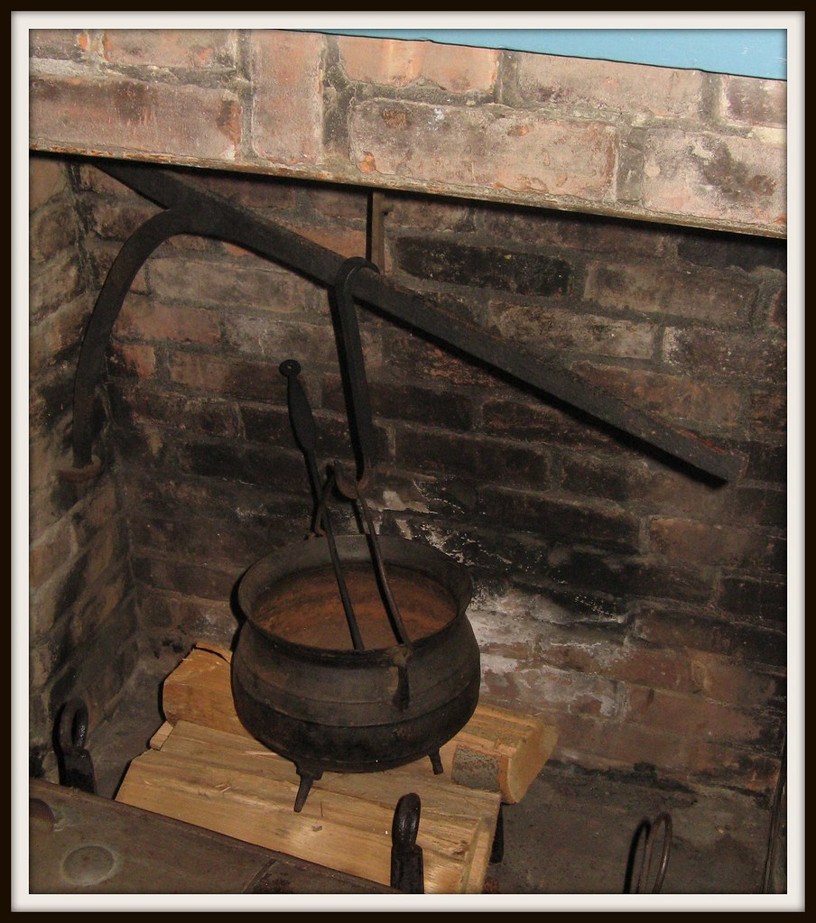 Old Cooking Pot in the Fireplace