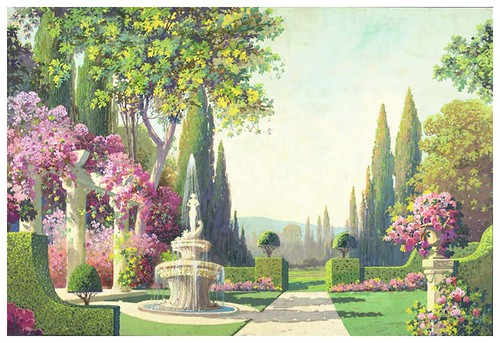 008-jardines-Garden drop with a classical colonnade and a fountain
