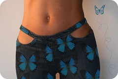 Ms Butterfly (sosij) Tags: self 50mm pants butterflies belly jeans tummy bluejeans misssixty tummybutton ohhhivegottheminmytummy