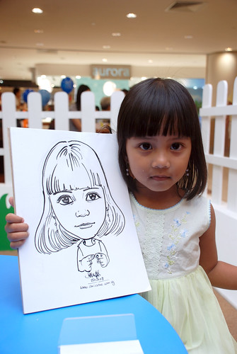 caricature live sketching for West Coast Plaza day 1 - 1