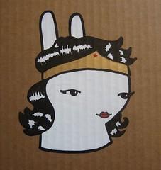Wonder Bunny (nobodylovesart) Tags: bunny art paintings nobody cardboard