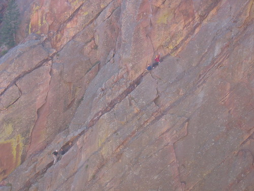 Stan (in Blue on Right) doing Bastille (5.7+)