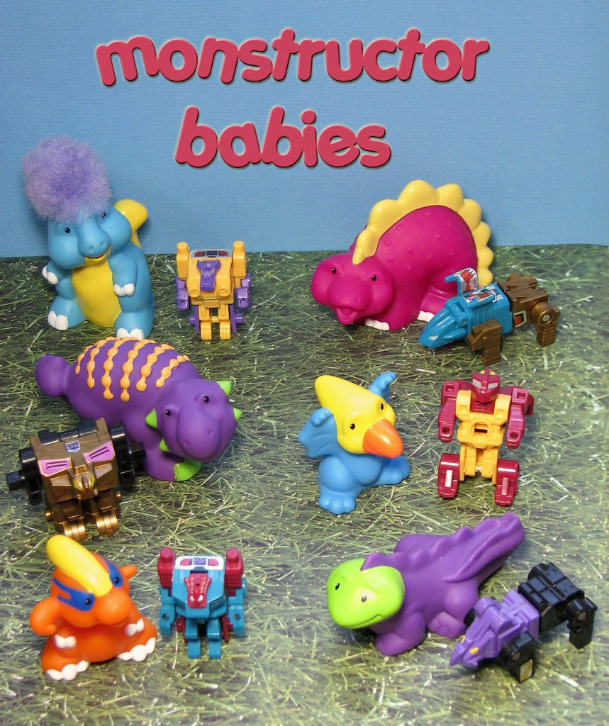 Project 365 Toys - MONSTRUCTOR BABIES! (Day 91 of 365)
