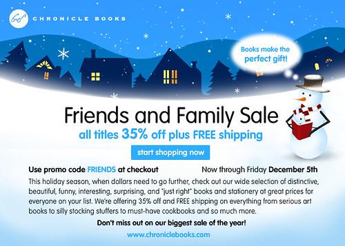 chronicle books sale!