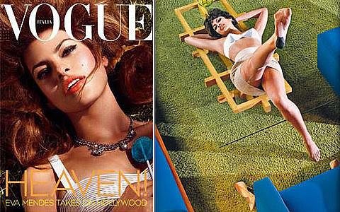 eva mendes vogue italy. Cover Italian Vogue : Eva