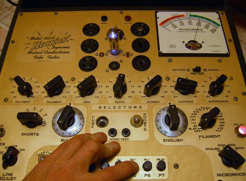 Hickok 533A Tube Tester with 0A2 Tube