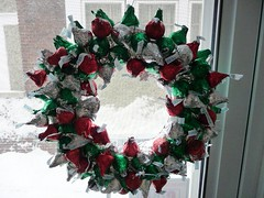 Hershey Kiss Wreath