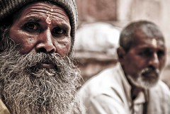The Stare (Isha Shukla) Tags: portrait closeup pilgrims daring mandu neelkanth interestingdof