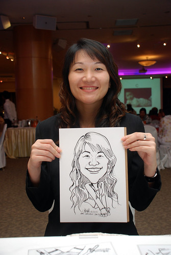 Caricature live sketching for Christ Methodist Church Christmas Celebration - 4