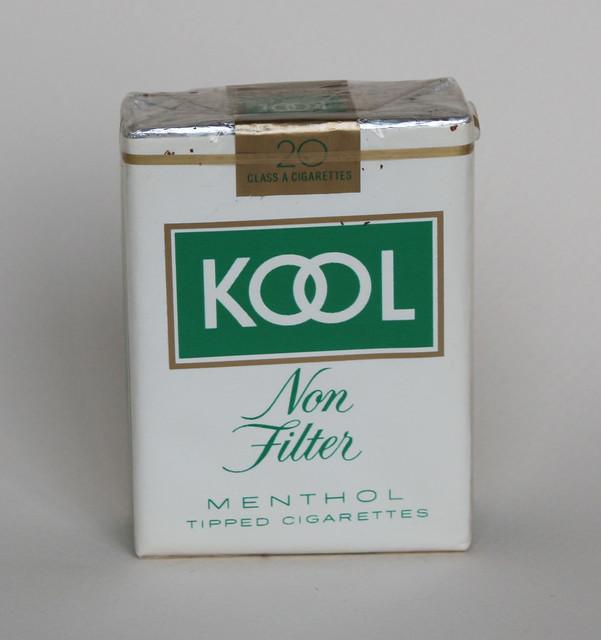 Kool non filter menthol cigarettes