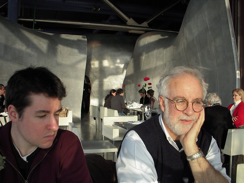 Max and Steve at Georges (at the Pompidou)