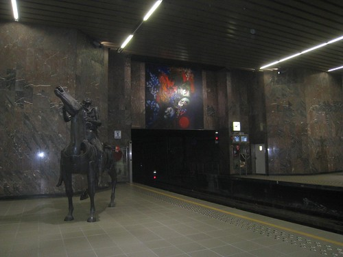 A sophisticated train station in Brussels