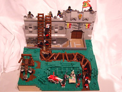 Siege Lines (Cuahchic) Tags: castle lines table dragon desert lego lion dry trench knights lions conference ladder moat chin siege moc ballista