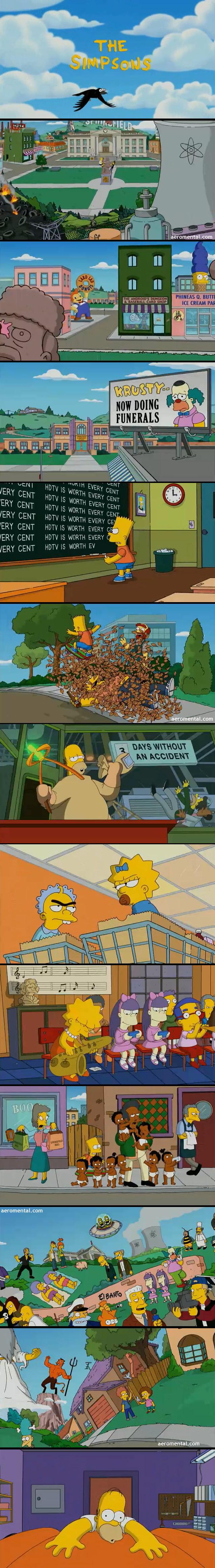 Screenshots de la nueva Intro de Los Simpsons
