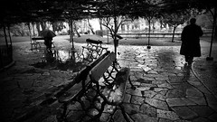Wet&dark (Rui Palha) Tags: street people urban bw blackwhite lisbon 24mm rainydays ruipalha lisbonrainydays
